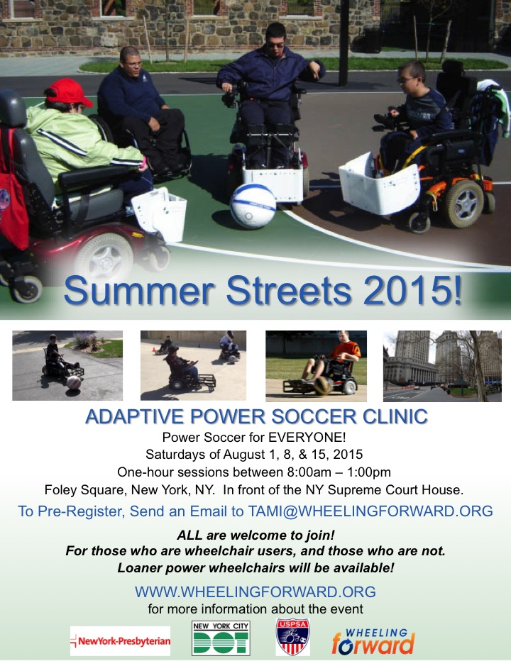Adaptive Power Soccer at Summer Streets