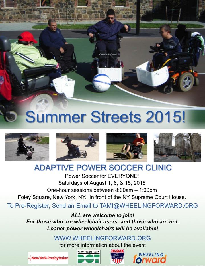 Adaptive Power Soccer at Summer Streets