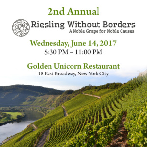 2nd Annual Riesling Without Borders Grand Tasting and Dinner